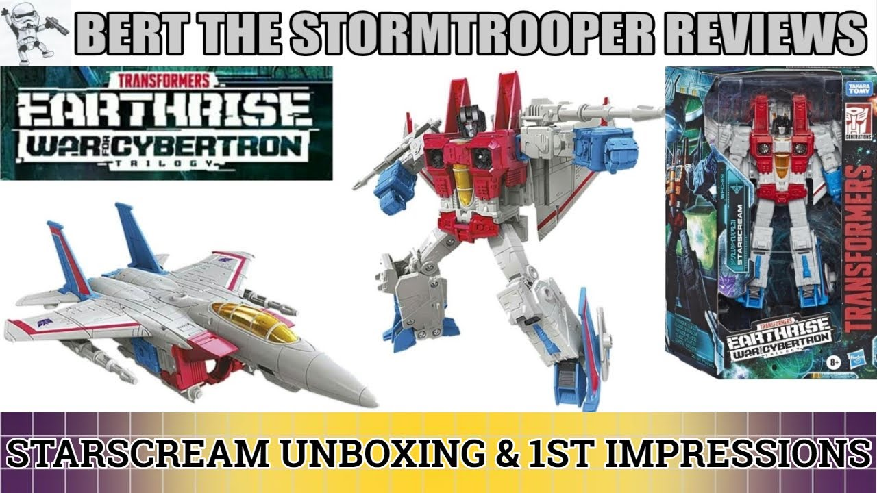 Earthrise STARSCREAM 1st Impressions Review by Bert the Stormtrooper
