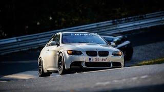 BMW M3 E92 - Nürburgring Nordschleife 7.52 BTG with Corvette C6 crash @ Hocheichen