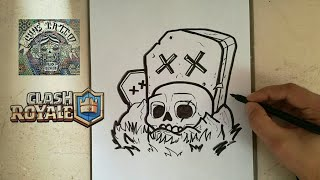COMO DIBUJAR EL CEMENTERIO - CLASH ROYALE / how to draw graveyard