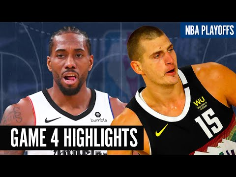 CLIPPERS vs NUGGETS GAME 4 HIGHLIGHTS NBA PLAYOFFS 2020