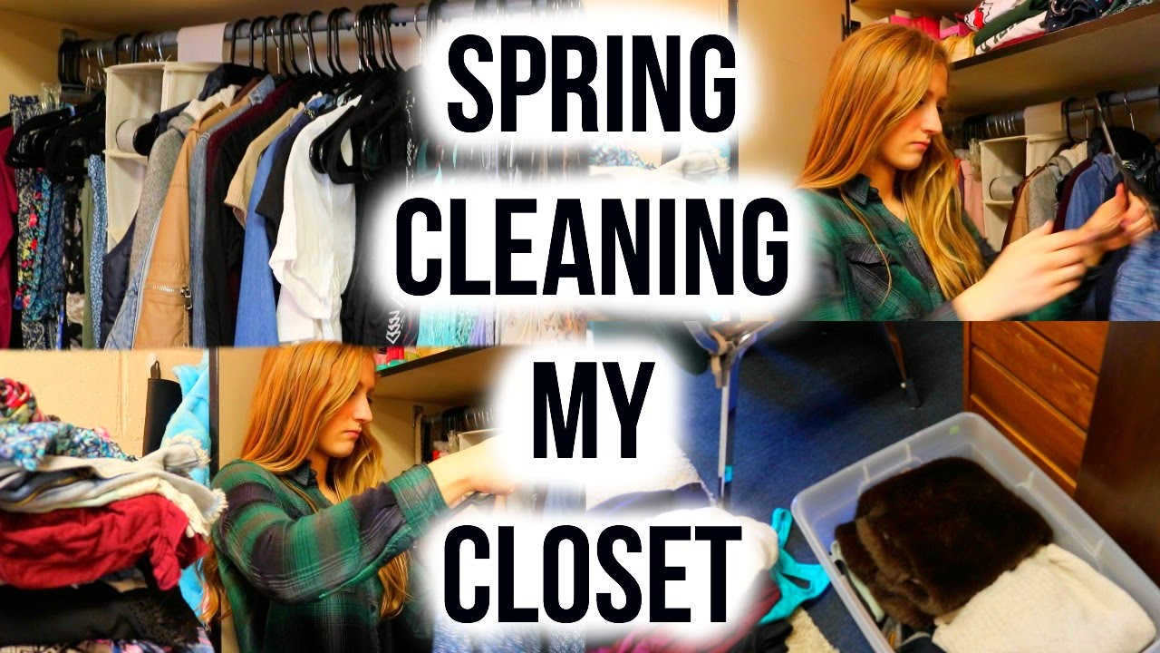 spring cleaning my closet - youtube