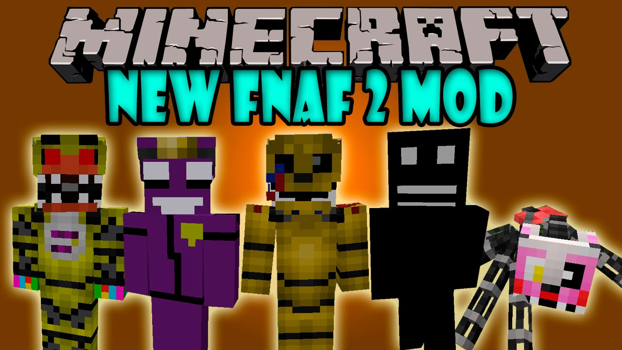Mod el hombre morado shadow bonnie mangle y mas minecraft mod