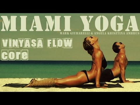 Yoga Workout On The Beach - (50 min No Music) Miami Beach Cl