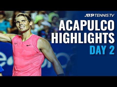 Nadal Pushes Past Andujar; Zverev Triumphs, Kyrgios Retires | Acapulco 2020 Highlights Day 2