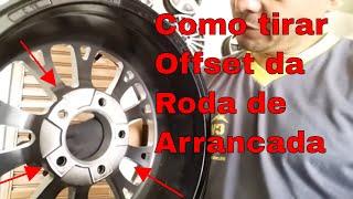 Fazendo offset nas rodas,rebaixando  offset roda aro 15 de arrancada