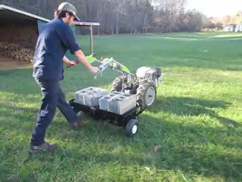 42 Core Plug Lawn Aerator On Grillo G110 Walk Behind