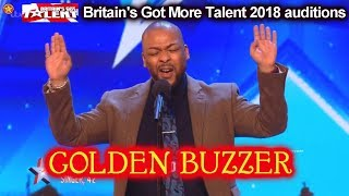 """Lifford Shillingford GOLDEN BUZZER sings """"Long Time Coming"""" Auditions Britain's Got Talent 2018 BGT"""