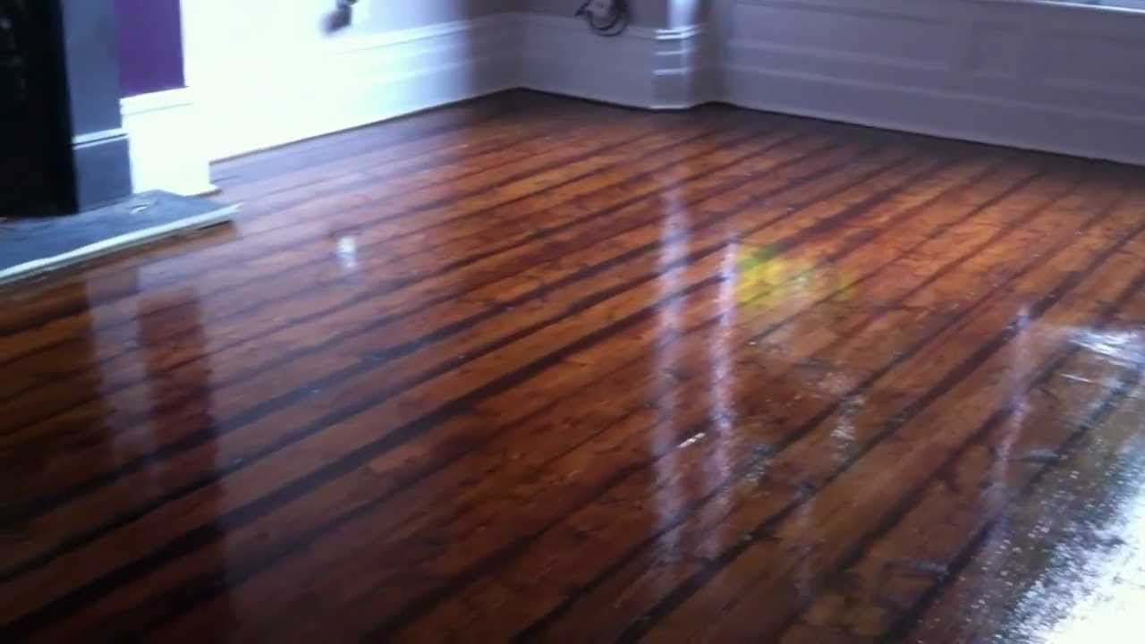 Floor Sanding Wirral Pine Floorboards Sanded Stained And Sealed In Oxton
