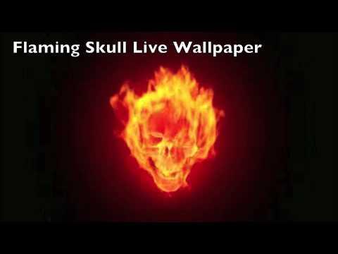 Flaming Skull Live Wallpaper