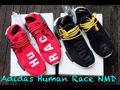 d2488f4f5 Adidas x Pharrell Williams HU NMD  Human Race  Unboxing and Review ...