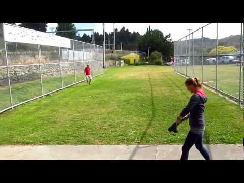 Throwing gumboots in Taihape - Sharon