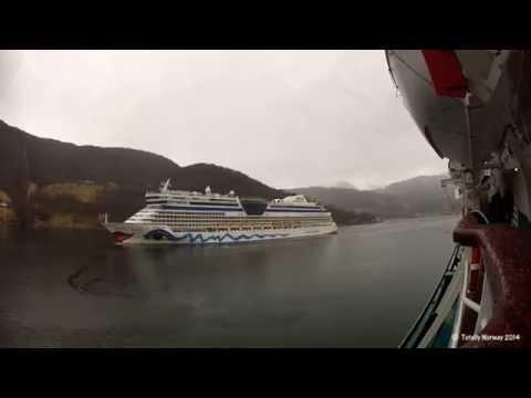 Aida Luna sailing from Ulvik, Norway