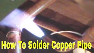 how to solder copper Pipe and repipe home Part 7 of 14 In HD(click here http://www.plumberx.com/Copper%20Pipe%20tools%20and%20Supplys.html and get all the supplys and tools you will need to solder copper pipe ..., 2010-08-26T09:53:24.000Z)