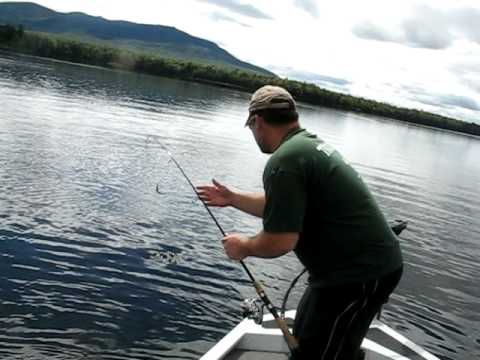 Great Smallmouth Bass Fishing on Indian Pond - Maine - YouTube