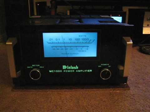 McIntosh MC-1000 Meter in Action (Left)