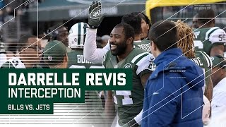 Darrelle Revis Returns His 1st INT of the Season for 51 Yards! | NFL Week 17 Highlights