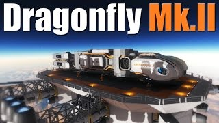 Ship Tour, Dragonfly Mk.II Exploration Ship - Small Ship Gone Large - SPACE ENGINEERS