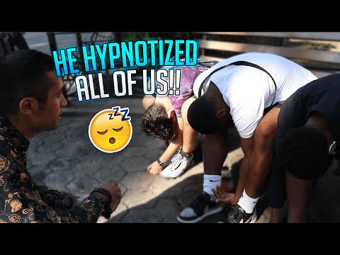 HE HYPNOTIZED ALL OF US!!