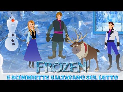 Frozen in Italiano Cinque Scimmiette saltavano sul letto - Canzoni per Bambini Frozen