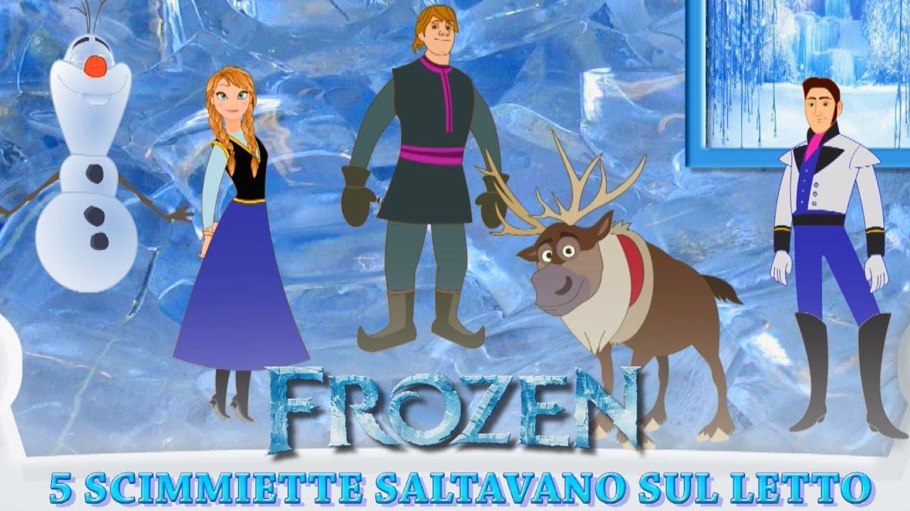 Cinque Scimmiette Saltavano Sul Letto.Frozen In Italiano Cinque Scimmiette Saltavano Sul Letto Canzoni Per Bambini Frozen Youtube