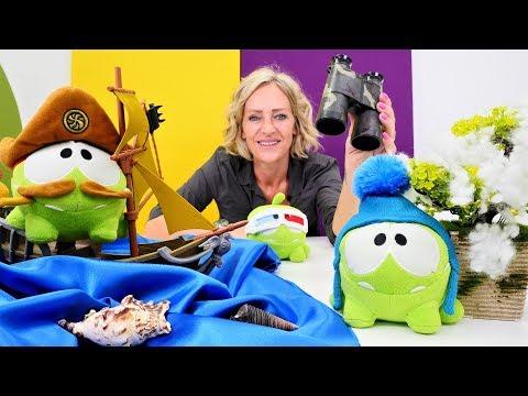 Om Nom geht auf Reisen. Spielzeugvideo für Kinder auf Deutsch.