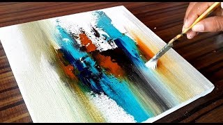 Making of Acrylic Abstract Painting / Project 365 days / Day #083