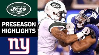 Jets vs. Giants | NFL Preseason Week 3 Game Highlights