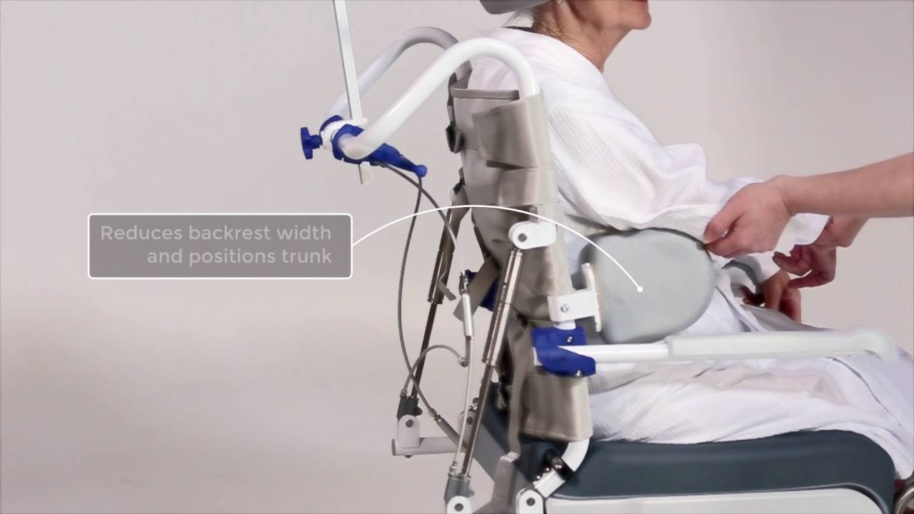 invacare shower chair counter height kitchen chairs aquatec ocean dual vip - youtube