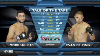FIGHT OF THE WEEK: Mehdi Baghdad vs. Evan DeLong at RFA 18