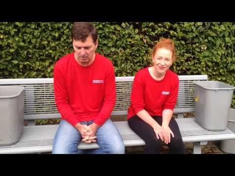 Simon O'Neill and Esther Beadle's Oxford Mail Ice Bucket Challenge
