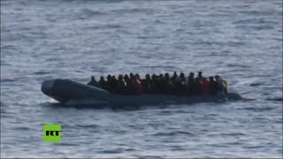 Una fragata turca rescata a 30 migrantes en el Mediterráneo