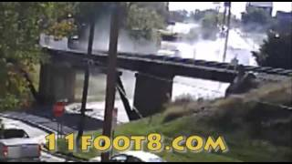 Bus crashes into bridge and loses A/C