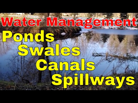 Water Management of ponds, swale, and spillways