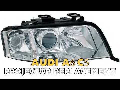 Audi A6 C5 projector replacement installation video retrofit with bi-xenon