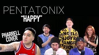 Repeat youtube video Pentatonix - Happy (Pharrell Cover) REACTION!!!
