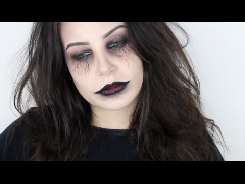 einfaches last minute halloween makeup tutorial ohne sfx youtube. Black Bedroom Furniture Sets. Home Design Ideas