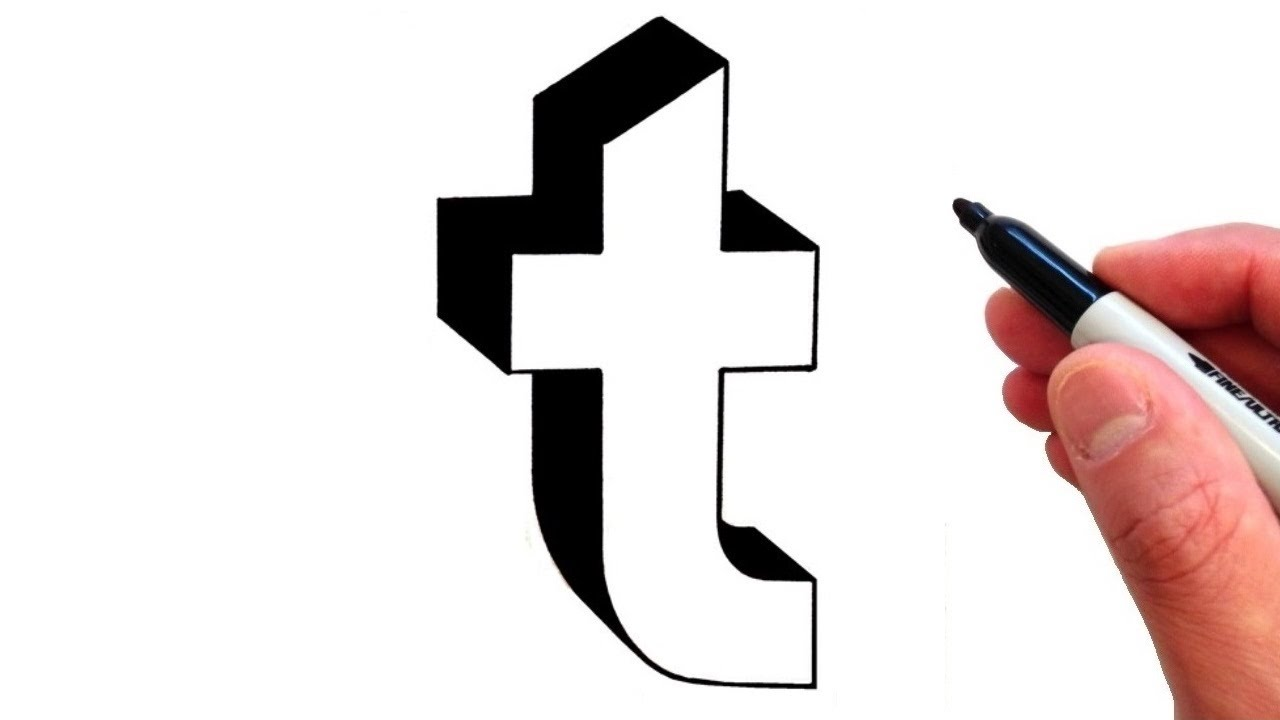 How To Draw Letter T In Lowercase 3d