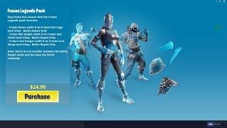Comment obtenir FROZEN LEGENDS SKIN BUNDLE à Fortnite! - WINTER Skin Variants LEAKED! (Fortnite)