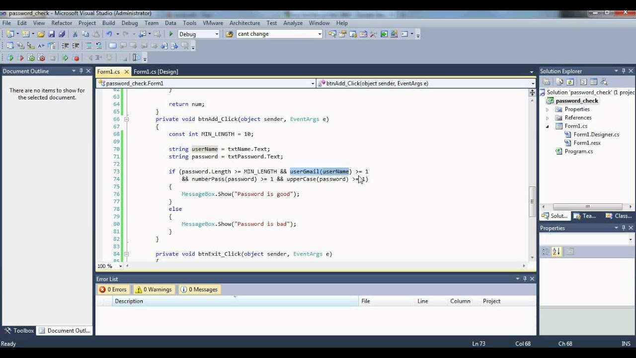 c# password char validation - youtube