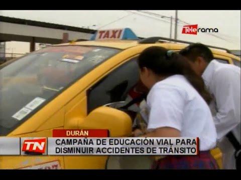 Campaña de educación vial para disminuir accidentes de tránsito