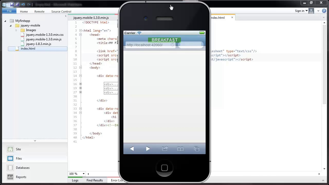 How to create a database for a mobile app?