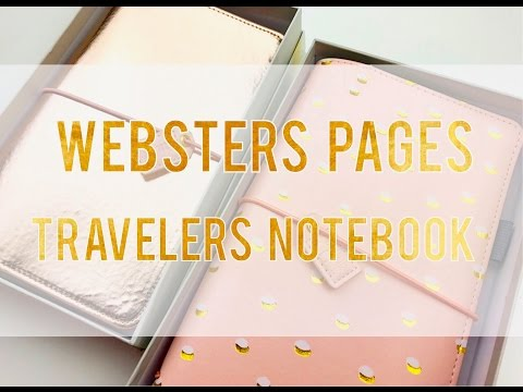2017 WEBSTER'S PAGES TRAVELERS NOTEBOOK REVIEW
