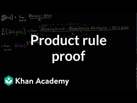 Product rule proof | Taking derivatives | Differential Calculus | Khan Academy