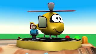 Spielzeug-Zug, Karikatur - Auto-cartoon - Polizei-cartoon - Spielzeug - Zug - für Kinder - Spielzeug-Fabrik, cartoon