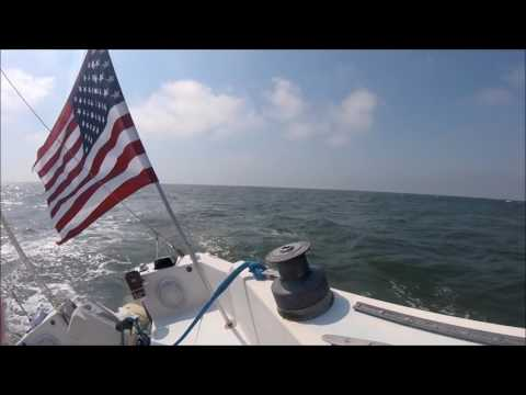 Sailing to Cape Charles 9-24-2016