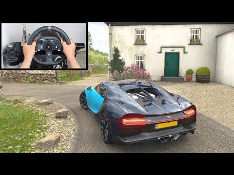 Forza Horizon 4 Bugatti Chiron (Steering Wheel + Paddle Shifter) Gameplay