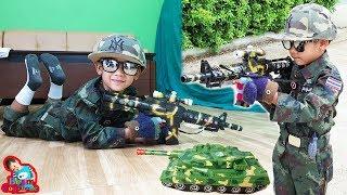 น้องบีม | รีวิวของเล่น EP164 | ปืนเลเซอร์รถถังทหาร Toys