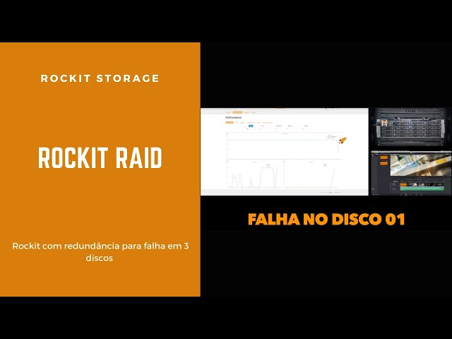 Rockit Storage - Redundância com falha em 3 discos