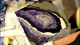 Geode Resin Painting /PURPLE RAIN