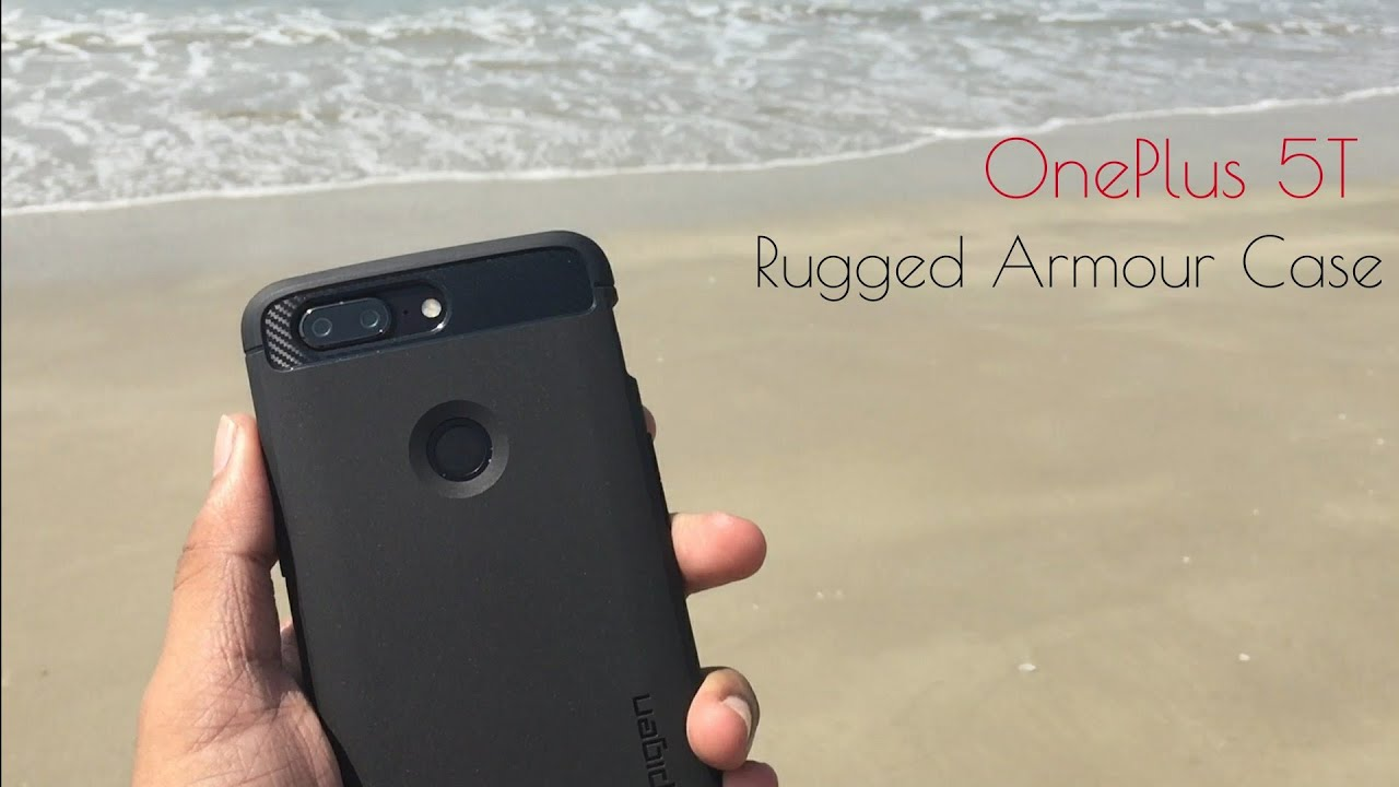 outlet store 184b3 3cdcd Spigen OnePlus 5T Rugged Armour Case Unboxing & Review